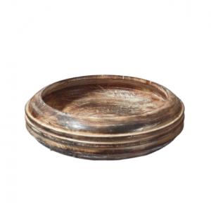 Hand Carved Large Timor Wooden Fruit Bowl