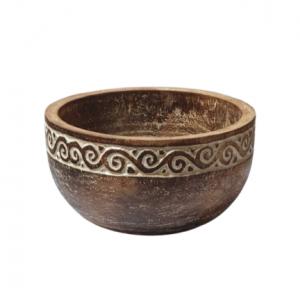 Timor Artwork Hand Carved Fruit Bowl - GV LAFB 5001