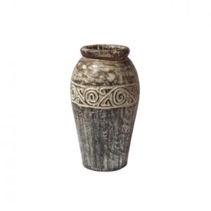 Timor Wood Planter Circular Carving Design - GV LAPL 6001