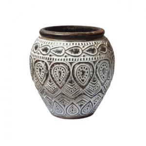 Ethnic Hand Carved Timor Vase - GV LAPL 4001